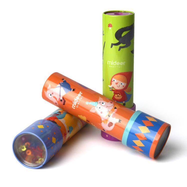 MiDeer弥鹿亲子互动益智神奇宝宝儿童铁皮万花筒科学创意多棱镜08