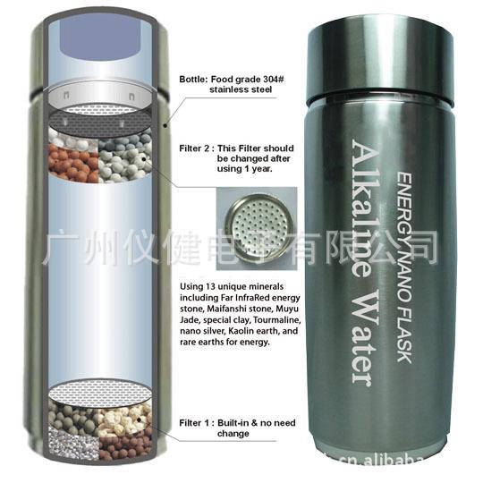 金华弱碱性水杯 精选产品 双杯芯水杯 礼品杯 能量杯 nano cup ehm-c1 EHM-仪健
