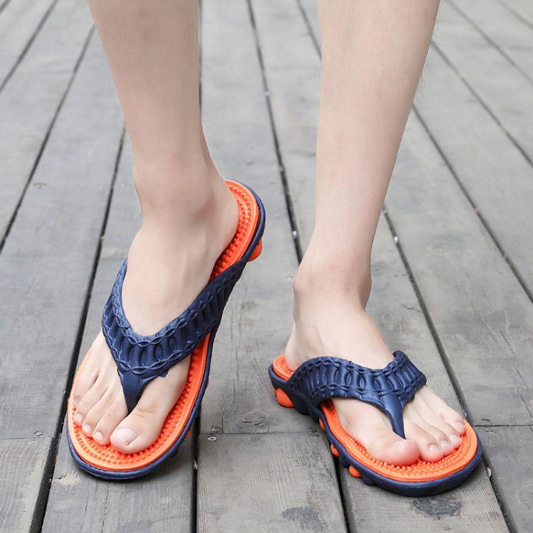 2018夏季新款男士韩版潮流人字拖按摩底夹角轻便拖鞋舒适防滑凉鞋