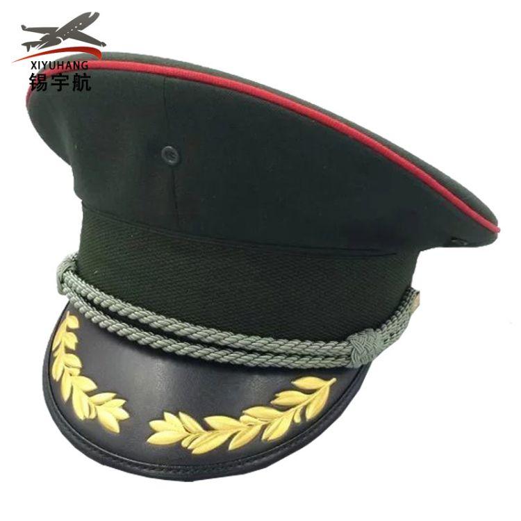 陆礼服大沿帽  士兵干部演出礼仪表演帽乐队军绿帽 厂家直销