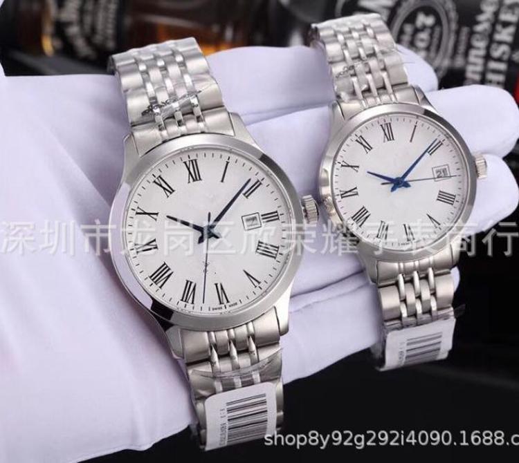 情侣钢带进口机械机芯商务时尚手表