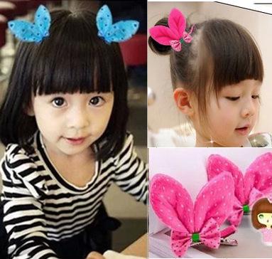 小兔耳朵儿童发夹 可爱萌物立体儿童头饰发饰品2元店饰品6g