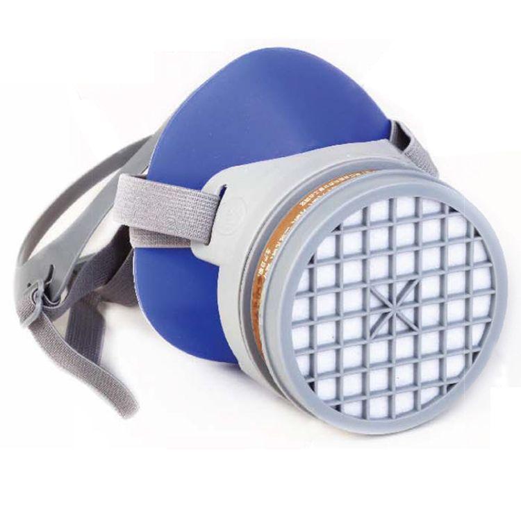 南核NH-219硅胶防毒半面具 防有机气体蒸气面罩头戴式 可配滤盒