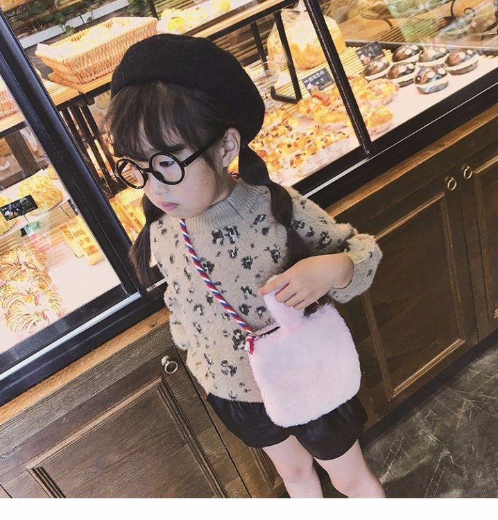 儿童毛毛单肩包,手提包,韩版时尚小包