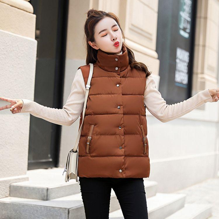 2018冬季新款棉衣女马甲韩版羽绒棉服女装保暖背心时尚修身外套