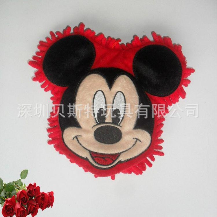 深圳毛绒玩具工厂生产定做 动物米奇头雪尼尔擦桌手套 出口日本