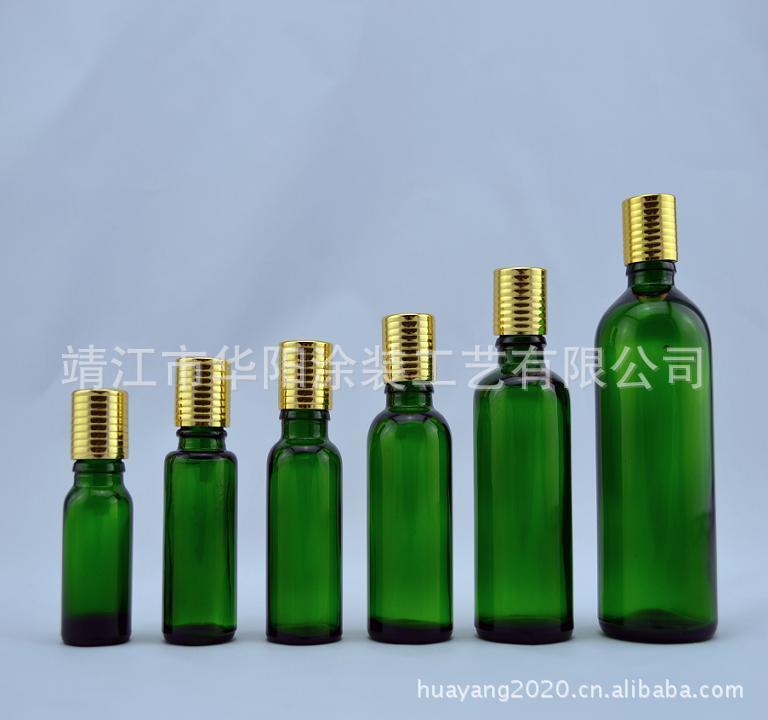 上海10ML绿色精油瓶!可选配[靖江华阳]电化铝盖配滴管!