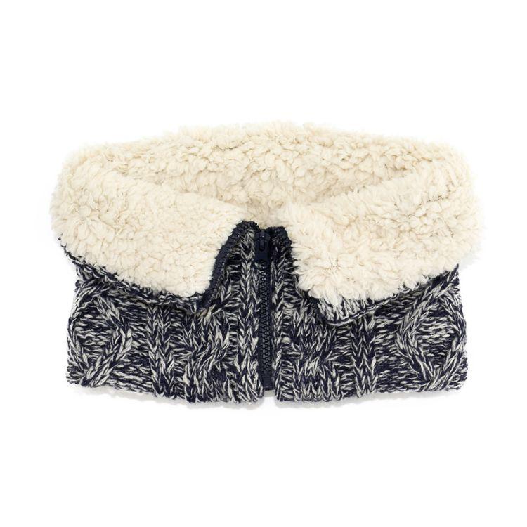 日本外贸原单秋冬新款毛线针织围脖羊羔绒假领跨境热卖冬季脖套