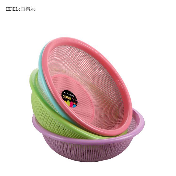 宜得乐淘米器洗米筛漏塑料淘米筐篮厨房用品沥水篮洗菜筐子溧水篮
