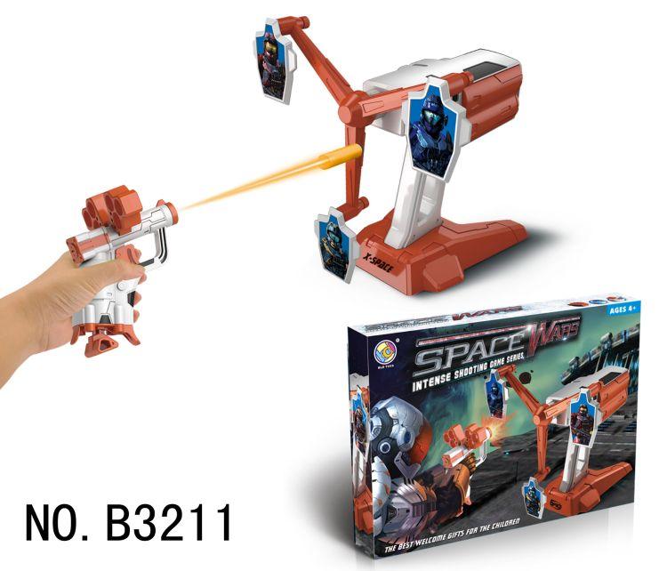 儿童太空大战射击玩具系列 旋转风车射击游戏 音乐互动射击玩具
