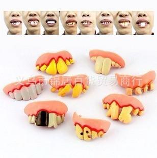 愚人万圣节整人玩具 酒吧KTV道具 整蛊搞怪搞笑 假牙套龅牙供应