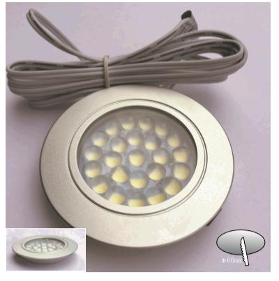 现代简约LED圆形厨柜灯 柜灯 展示灯 正发光 嵌入式安装