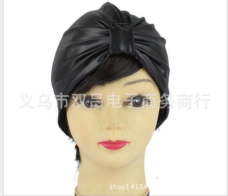 义乌双吕热销外贸百搭17年新款仿皮印度帽穆斯林弹力帽子时装帽