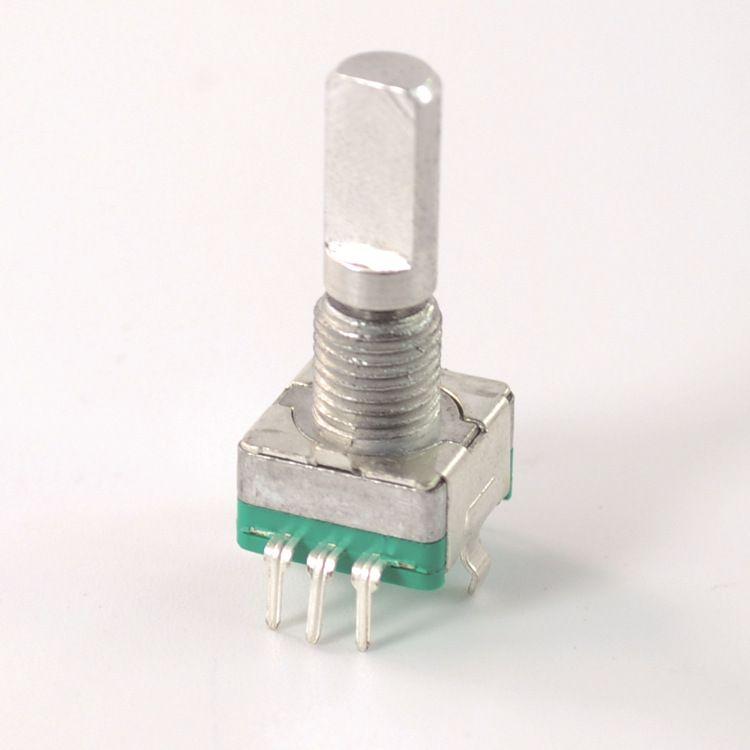 高质量旋转编码器 11mm 带开关 增量式 15脉冲30定位 可定制