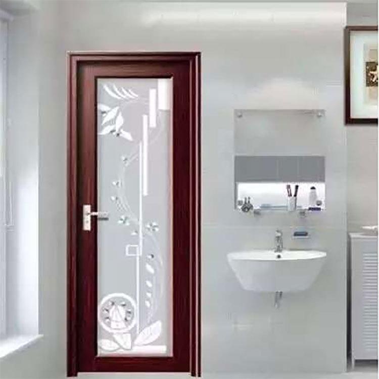 深圳宝安区铝合金家居门 卫生间铝合金隔音门 订多色双包边铝平开门