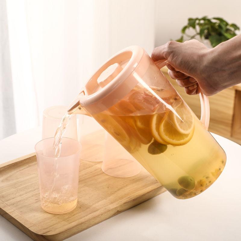 防尘塑料冷水壶杯子套装耐高温家用大容量凉水壶花茶壶厂家直销批发