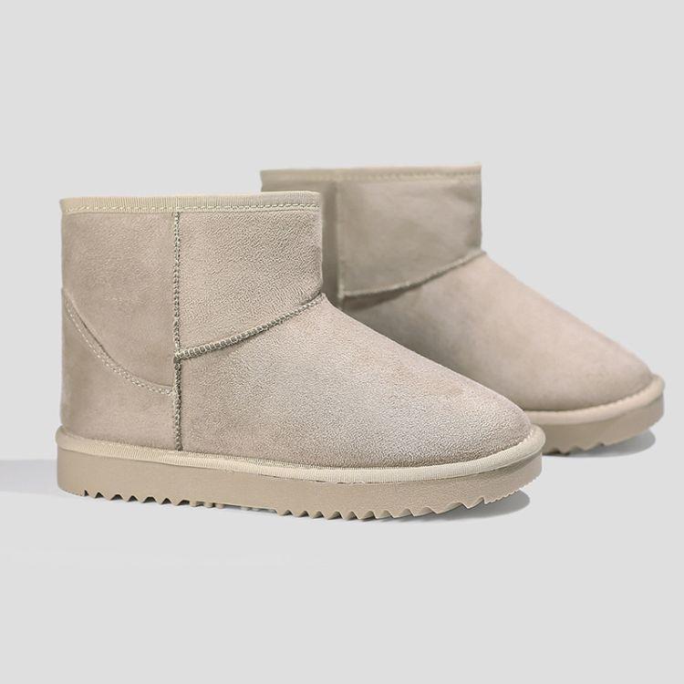 【定制】批发雪地靴女2018冬季新款防滑加绒保暖棉鞋加绒加厚女鞋