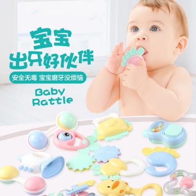 新生儿早教益智婴幼儿手摇铃牙胶玩具可水煮安全环保无毒婴儿玩具