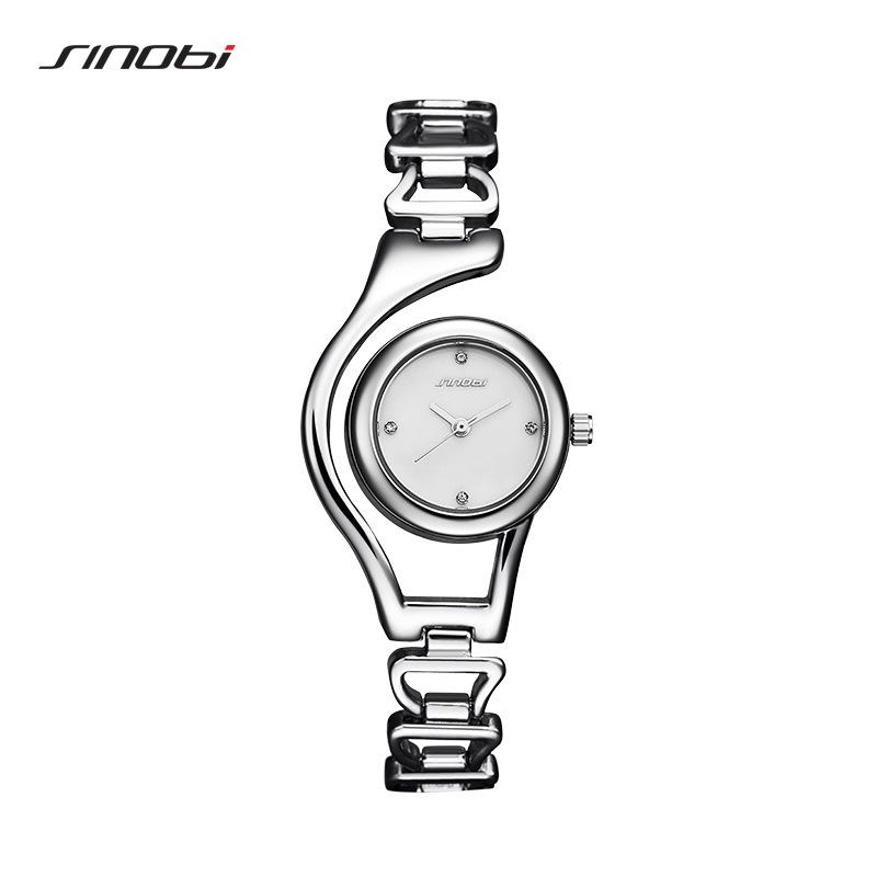 时诺比9602女士手表简约镂空韩版时尚潮流防水石英表女表