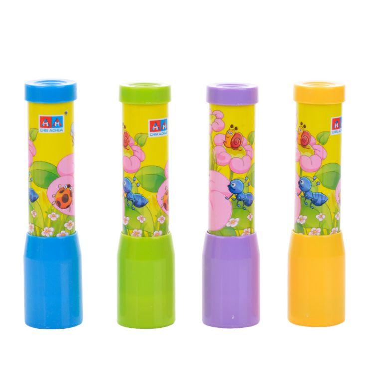 婴幼儿童宝宝早教益智玩具10CM玻璃旋转幻彩万花筒节日礼物批发