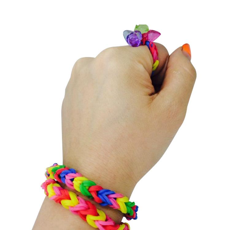 小咕咚创意DIY制作橡皮筋 益智 爱心盒装多种颜色橡皮筋