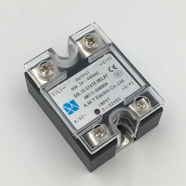 供应原装正品A.M.T直流控制交流固态继电器AMT11-D4860A,SSR-60DA