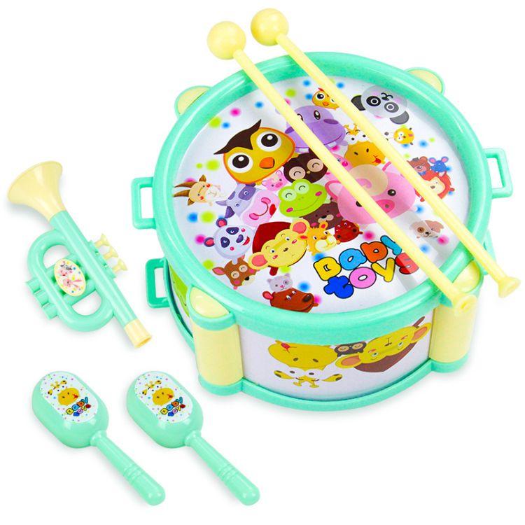 厂家直销新款宝宝幼儿6件套手拍鼓 仿真乐器拍拍鼓乐器玩具批发
