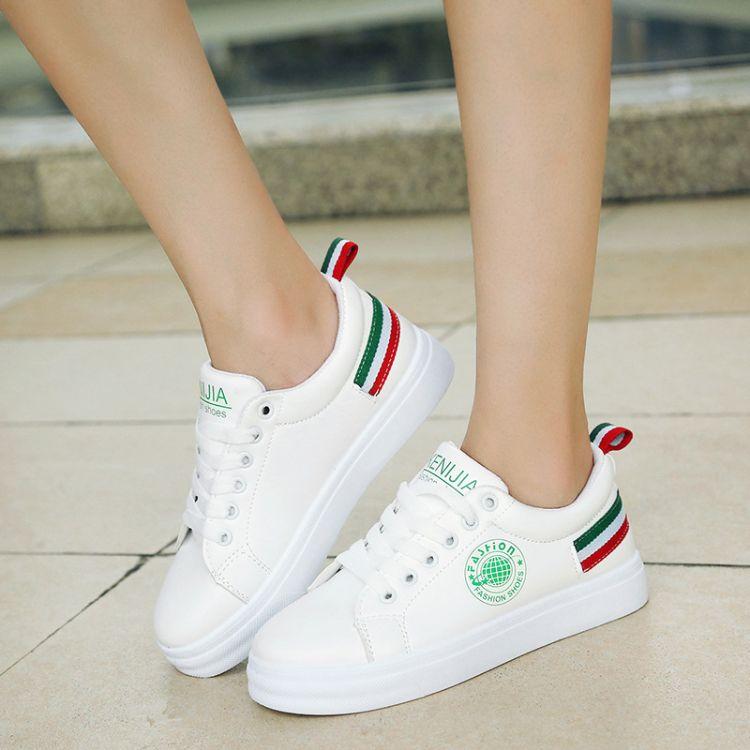 冬季小白鞋女低帮系带运动板鞋韩版学生鞋平底休闲学生鞋批发代发