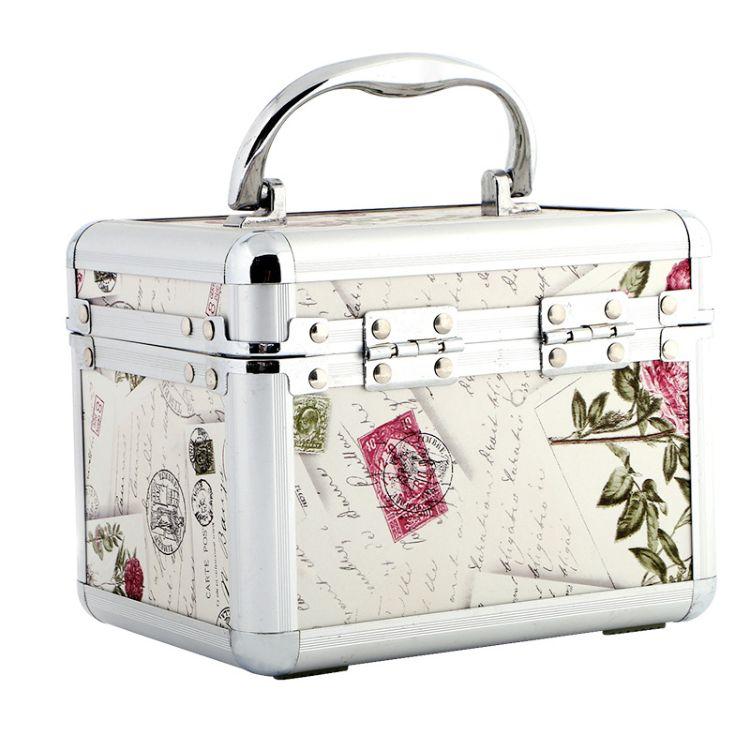 韩版pu化妆箱美容彩妆工具箱多层大号带锁美甲批发化妆包定制