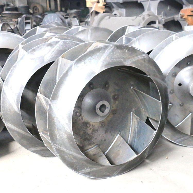 支持定制风机叶轮 碳钢不锈钢锰钢离心风机叶轮 山东通用直销