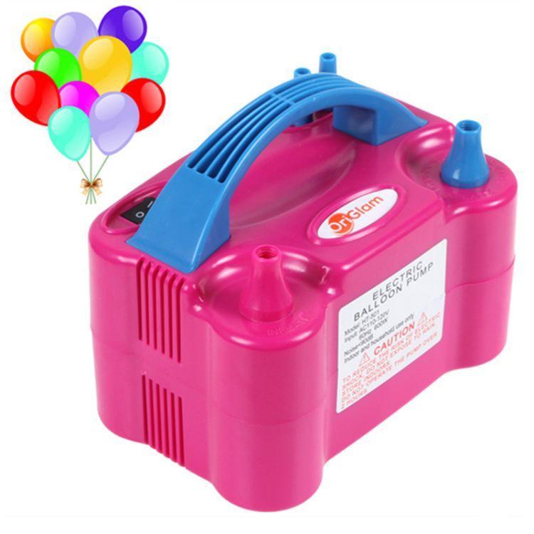 气球机电动双孔气泵 电动式家用打气机 73005快速电动气球打气筒