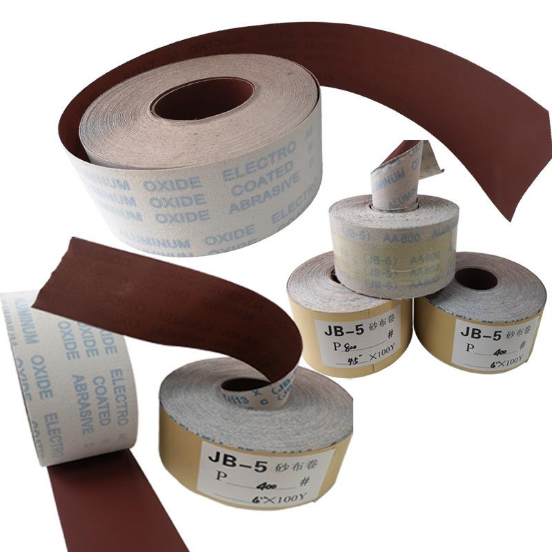 厂家批发超涂层红砂砂布卷 家具工艺品打磨JB-5手撕砂布卷