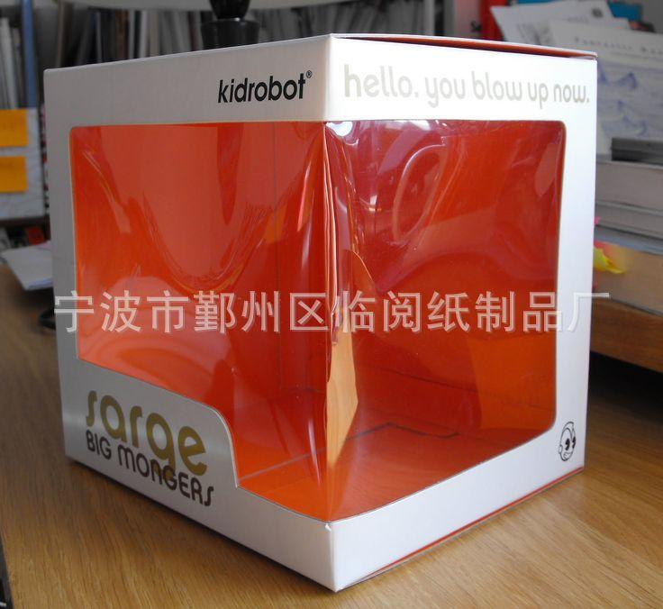 开窗贴膜彩色印刷瓦楞玩具包装盒