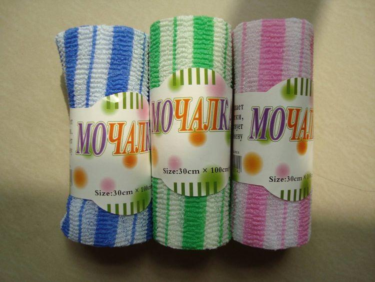 供应批发优质尼龙浴巾 条纹搓澡巾 多色可选 代加工