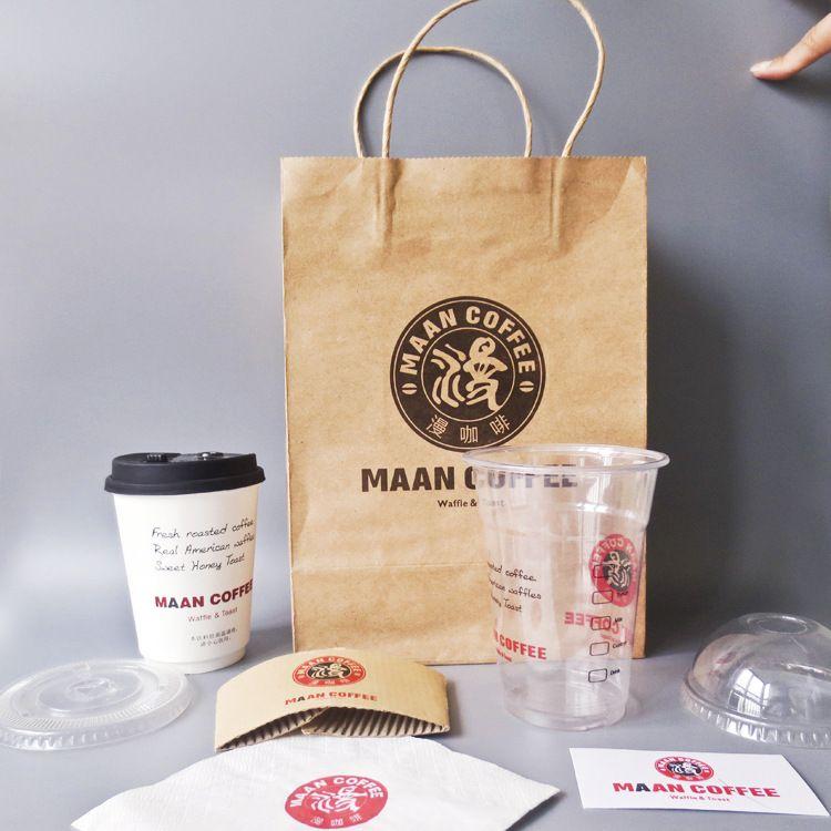 现货牛皮纸袋 手提袋 食品包装 烘焙打包袋  礼品袋订制可印logo