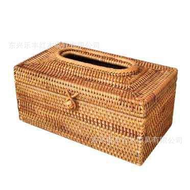 居南 藤编纸巾盒抽纸盒越南秋藤编收纳盒装饰抽纸筒150抽200抽