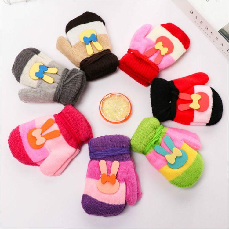 卡通时尚新款儿童手套 保暖可爱儿童手套  男女通用全包手套