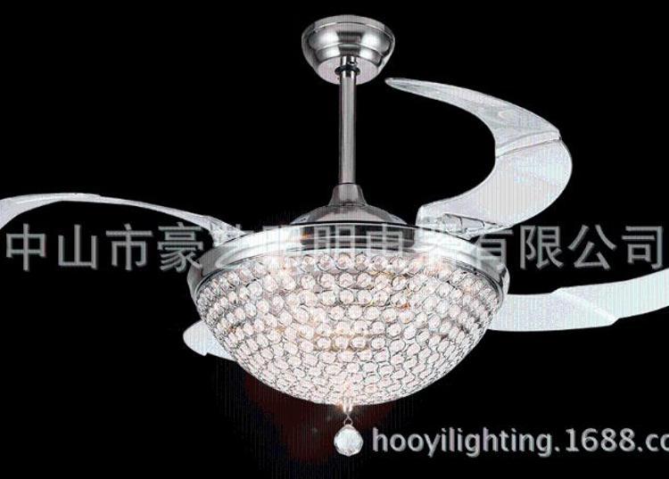 豪艺隐形吊扇灯家用餐厅客厅风扇灯欧式简约带灯遥控电风扇吊灯
