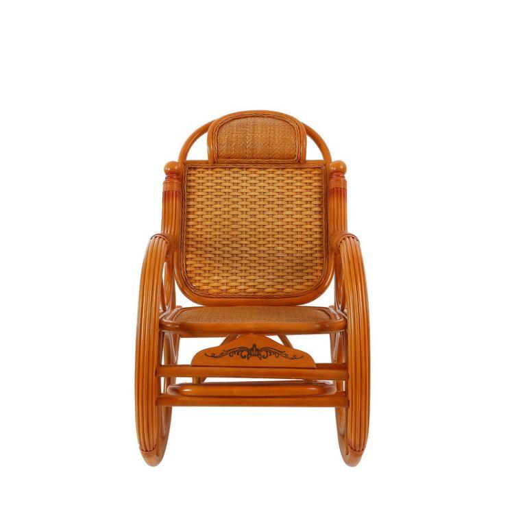 昌盛藤器 雕花摇椅休闲 木制庭院摇椅 懒人阳台摇椅 沙发摇椅 躺椅 藤木家具厂家