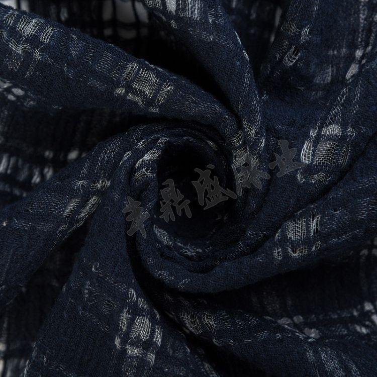 现货棉麻面料 国家标准GB衣服床上用品用料染色尼龙麻面料批发