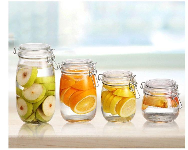 厂家直销玻璃储物罐密封罐食品调料罐乐扣罐梅森罐玻璃罐子