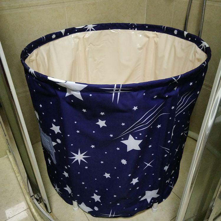 厂家直销家用泡澡桶 成人可折叠浴桶浴缸加厚洗浴盆 沐浴盆洗澡桶