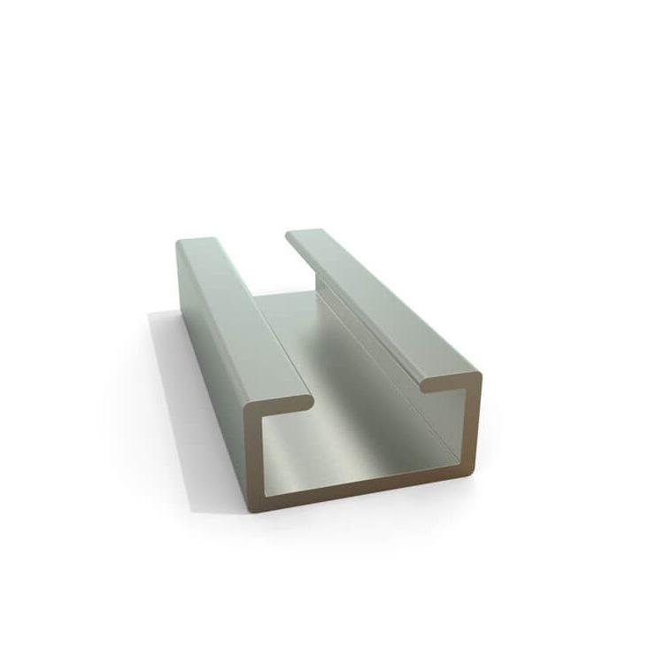 各种规格U型槽 等边不等边U型槽铝型材 6063导轨U型铝型材