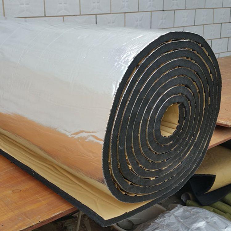 铝箔背胶橡塑海绵 屋顶阳光房隔热保温 水箱管道保温铝箔橡塑上海
