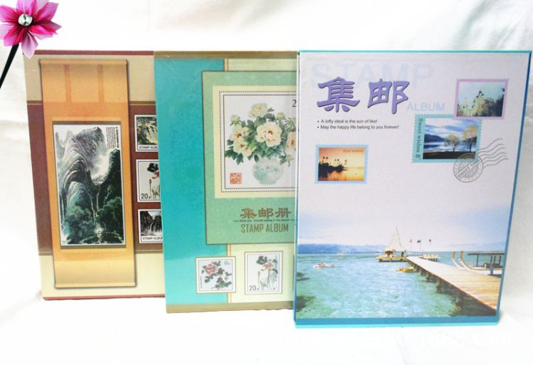 厂家直销热卖工艺10开大集邮册7张14面白色内芯收藏邮票册010-1