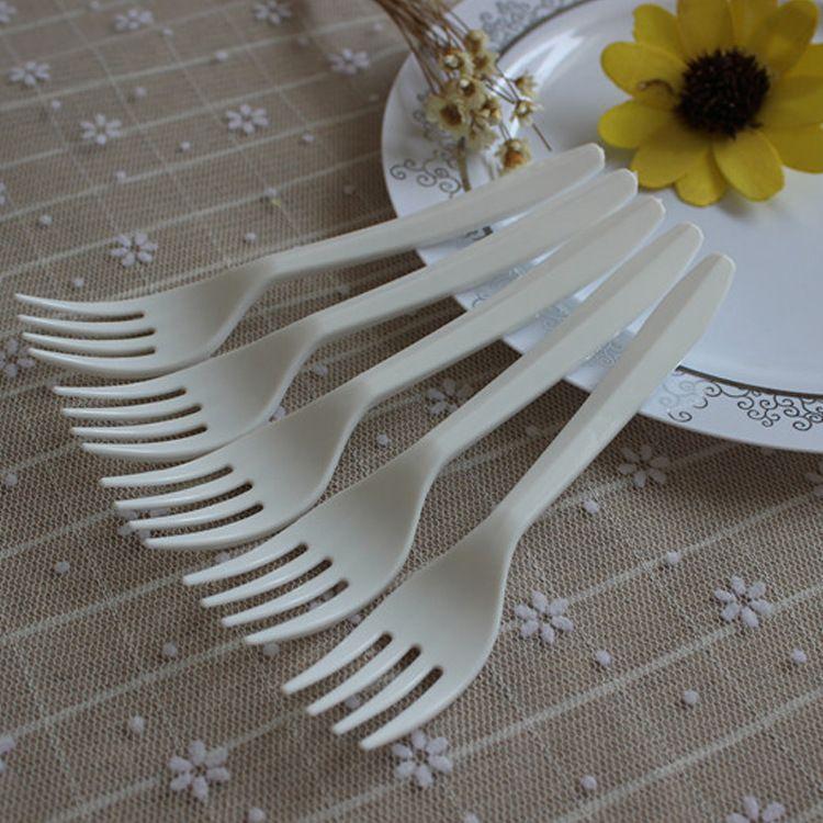 厂家供应一次性泡面折叠叉 多功能塑料叉子