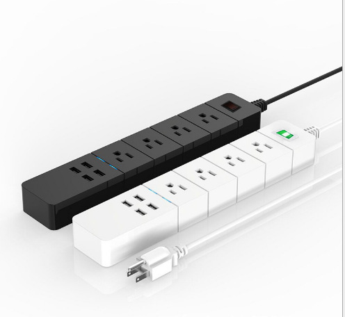 4AC4USB美规排 智能美规插线板   WiF带i分控多功能     厂家直销