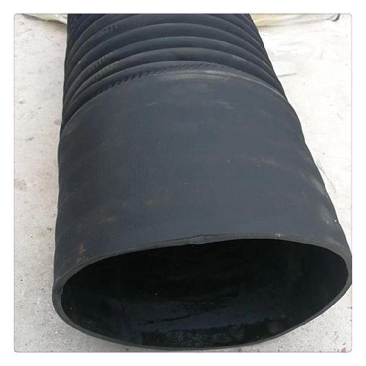 胶管厂供应抽吸粉尘用软管 橡胶通风伸缩软管规格定制