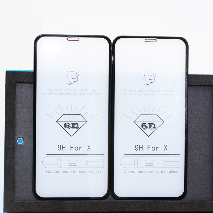 iphoneX5D滴胶曲屏钢化膜苹果x 5D滴胶钢化膜8pplus滴胶钢化膜