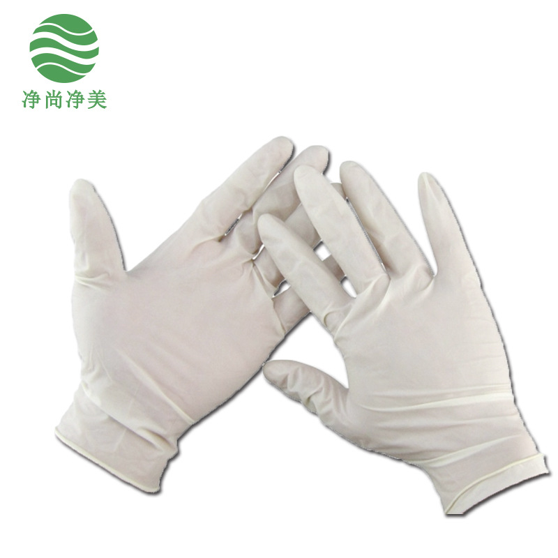 无尘无粉防静电乳胶手套PVC手套9寸12寸手套实验室防油耐酸碱手套